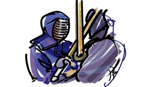 剣道の面白さを伝えるイメージイラスト