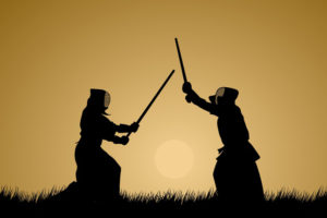 剣道の面白さを伝えるイメージ
