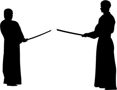 木刀で対峙