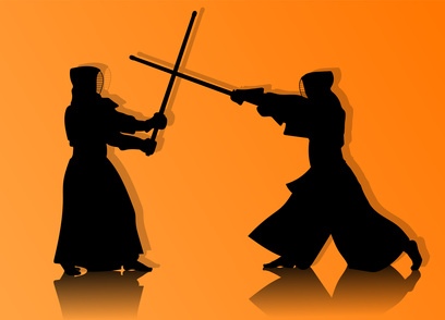 暑い剣道場で熱い稽古
